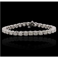 14KT White Gold 6.43ctw Diamond Tennis  Bracelet