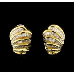 9.00ctw Diamond Earrings - 18KT Yellow Gold