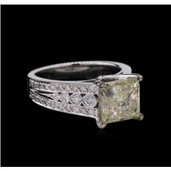 4.63ctw Diamond Ring - 14KT White Gold
