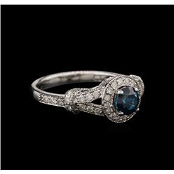 1.26ctw Fancy Blue Diamond Engagement Ring - 14KT White Gold