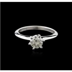 14KT White Gold 0.75ct Round Cut Diamond Solitaire Ring