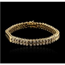 14KT Yellow Gold 1.04ctw Diamond Bracelet