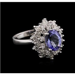 14KT White Gold 2.03ct Tanzanite and Diamond Ring