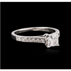 18KT White Gold 1.18ctw Diamond Ring
