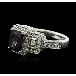 14KT White Gold 1.96ct Spinel and Diamond Ring