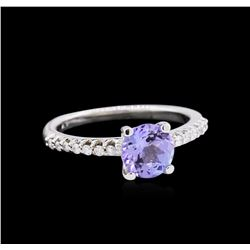 1.30ct Tanzanite and Diamond Ring - 14KT White Gold