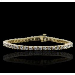 14KT Yellow Gold 4.94ctw Diamond Bracelet