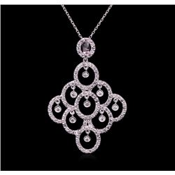 1.24ctw Diamond Pendant With Chain - 14KT White Gold