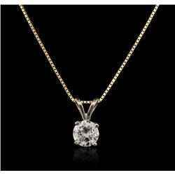 14KT Yellow Gold 0.33ct Diamond Pendant With Chain