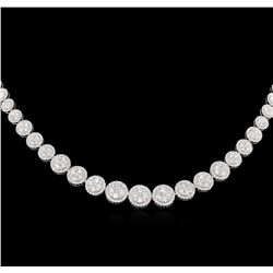 6.46ctw Diamond Necklace - 18KT White Gold