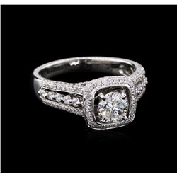1.66ctw Diamond Ring - 18KT White Gold