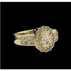 14KT Yellow Gold 1.23ctw Diamond Ring