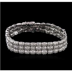 5.50ctw Diamond Bracelet - 14KT White Gold