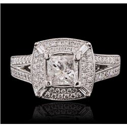 18KT White Gold 1.56ctw Diamond Ring
