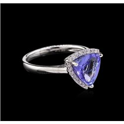 2.62ct Tanzanite and Diamond Ring - 14KT White Gold