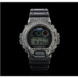 Casio Stainless Steel PVD Black Diamond G-Shock Watch