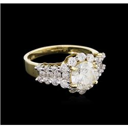 EGL INT Cert 1.63ctw Diamond Ring - 14KT Yellow Gold