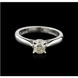 14KT White Gold 0.80ct Oval Cut Diamond Solitaire Ring