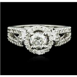 14KT White Gold 1.17ctw Diamond Ring