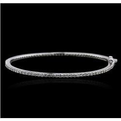14KT White Gold 2.05ctw Diamond Bangle Bracelet