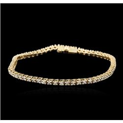 14KT Yellow Gold 1.89ctw Diamond Tennis Bracelet