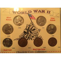 WWII coins professional display