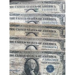 1935 Silver Certificates 5@