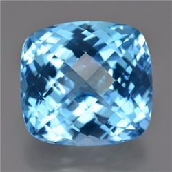 Natural Cushion Swiss Topaz 9.11 Carats - VVS