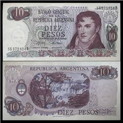 1973 Argentina 10 Peso Note GEM Crisp Uncirculated