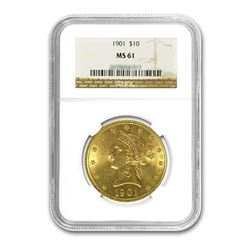 1901 $10 Liberty Gold Eagle NGC MS61