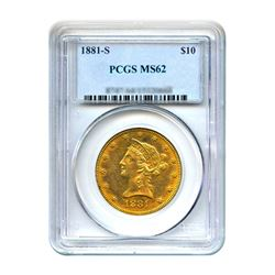 1881-S $10 Liberty Gold Eagle PCGS MS61