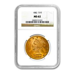 1882 $10 Liberty Gold Eagle NGC MS62
