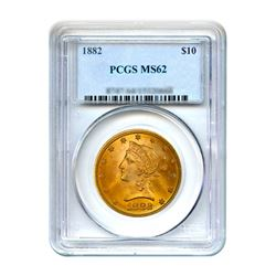 1882 $10 Liberty Gold Eagle PCGS MS62