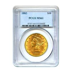 1883 $10 Liberty Gold Eagle PCGS MS61