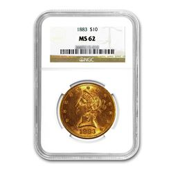 1883 $10 Liberty Gold Eagle NGC MS62
