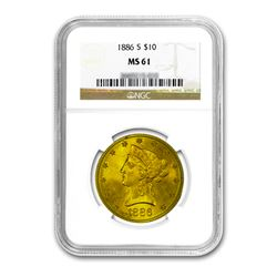 1886-S $10 Liberty Gold Eagle NGC MS61