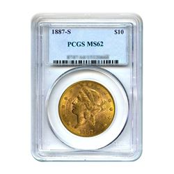 1887-S $10 Liberty Gold Eagle PCGS MS62