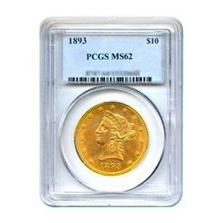 1893 $10 Liberty Gold Eagle PCGS MS62