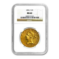 1894 $10 Liberty Gold Eagle NGC MS62