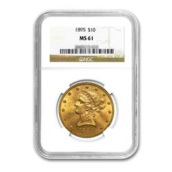 1895 $10 Liberty Gold Eagle NGC MS61