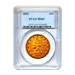 1895 $10 Liberty Gold Eagle PCGS MS62