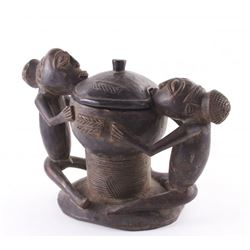 Yoruba Ajere Ifa Divination Bowl, Ketu Region, Republic
