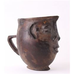 (1 of 3) African Kuba Anthropomorphic cup, Democratic