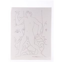 Rare acetate sheet of Pablo Picasso (1881-1973), Harry