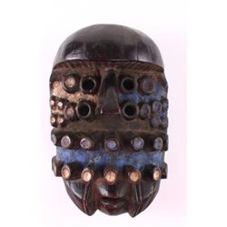 Grebo Mask, Ivory Coast, blue and white pigmentation.