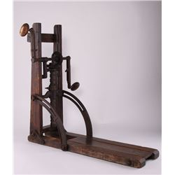 "Antique Drill Press, ""PAT JAN 1872"".  SIZE: see"