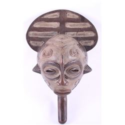 (2 of 3) African Lulua female handle wood mask, early