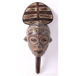 (3 of 3) African Lulua female handle wood mask, early
