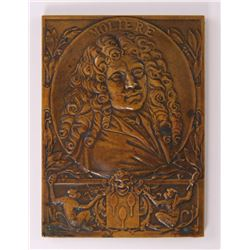 G. Prudhomme, bronze plate art medal, a portrait of