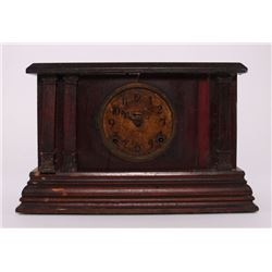 "1885 Ingraham Mantle Clock, ""Manufactured by the E."